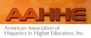 American Association of Hispanics in Higher Education, Inc. Logo