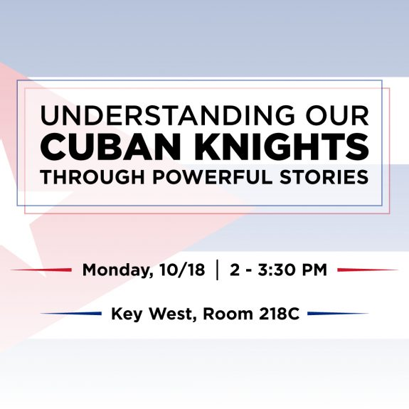 Understanding our Cuban Knights through Powerful Stories Event Flyer