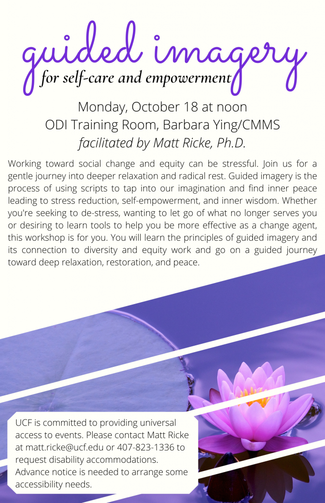 Guided Imagery for Self-Care and Empowerment Event Flyer