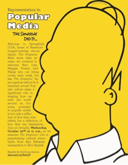 Representation in Popular Media - The Simpsons Did It Event Flyer